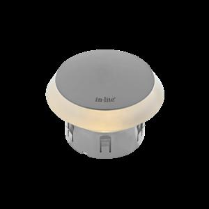 In-Lite buitenlampen en tuinverlichting 12 volt In-Lite Puck ZILVER