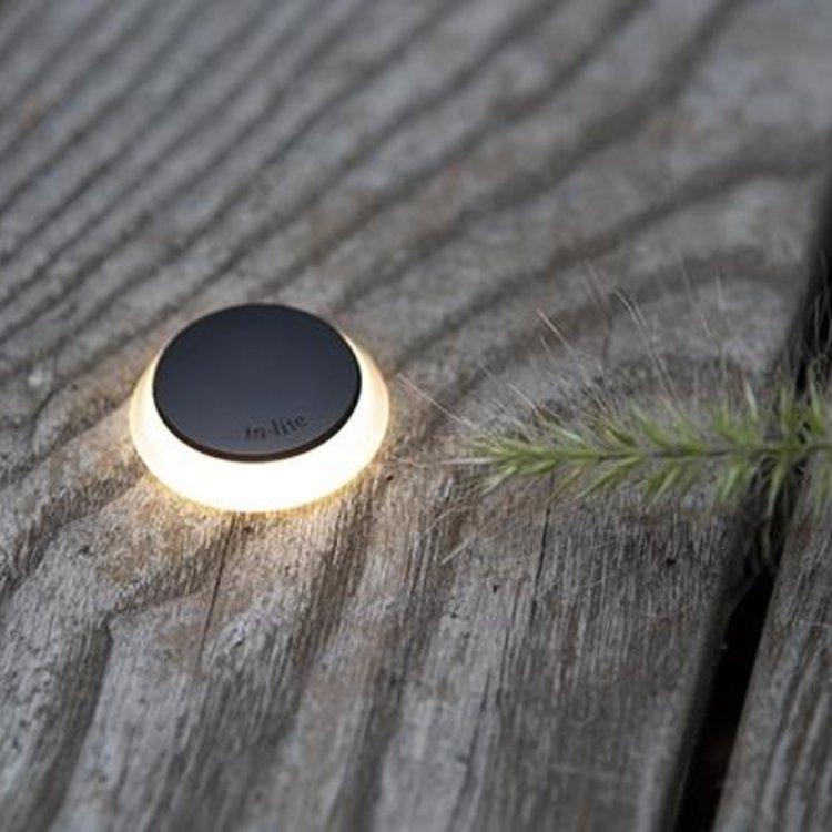 In-Lite buitenlampen en tuinverlichting 12 volt In-Lite Puck 22 ZWART