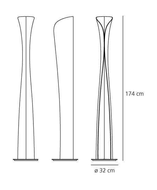 Artemide Cadmo LED vloerlamp