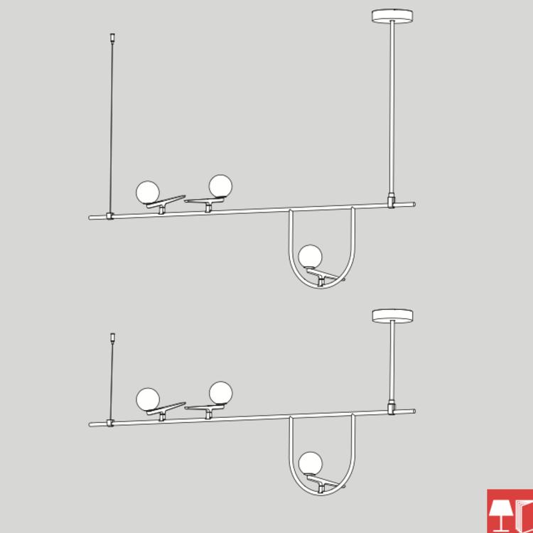 Artemide Artemide Yanzi hanglamp - suspension 1 en SC1