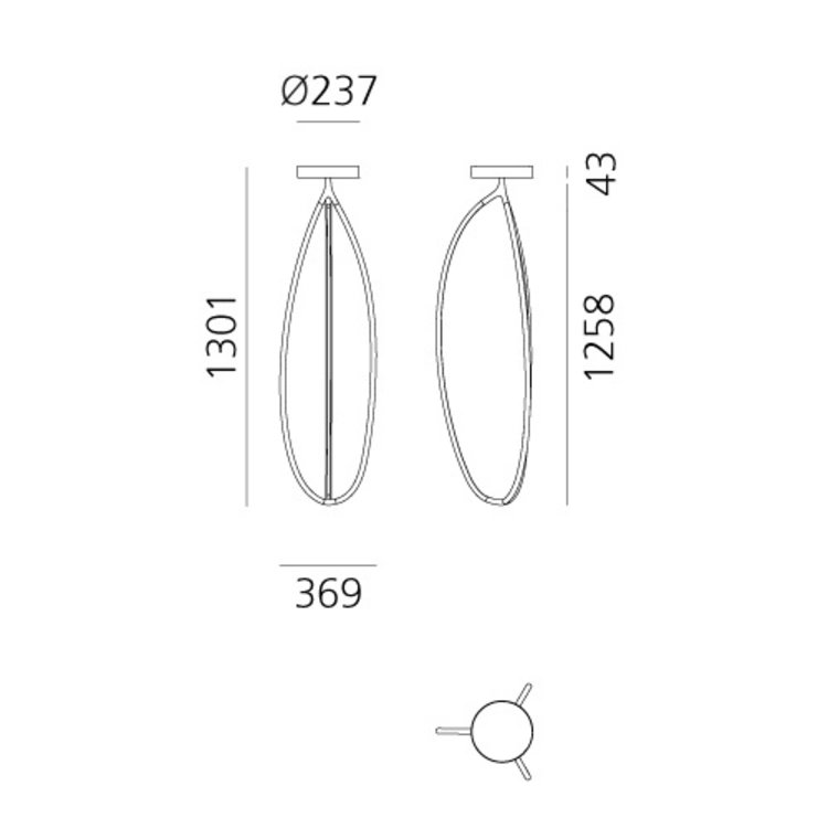 Artemide Artemide Arrival - 130Ceiling - Plafondlamp