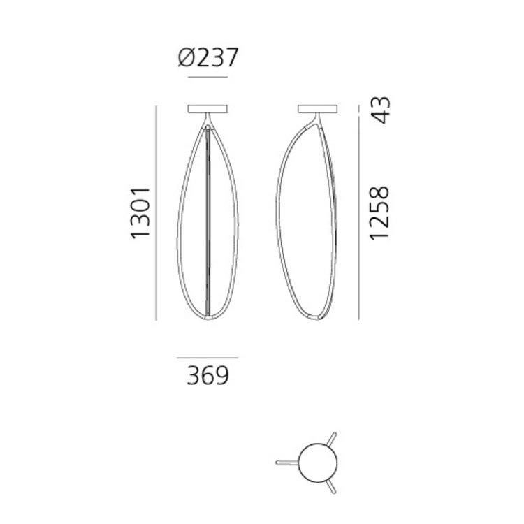 Artemide Artemide Arrival Floor - 130Ceiling - Plafondlamp