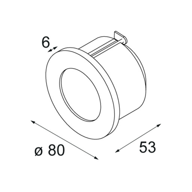 Modular Modular Doze rond inbouw wandlamp