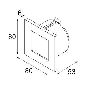 Modular Doze vierkant inbouw wandlamp