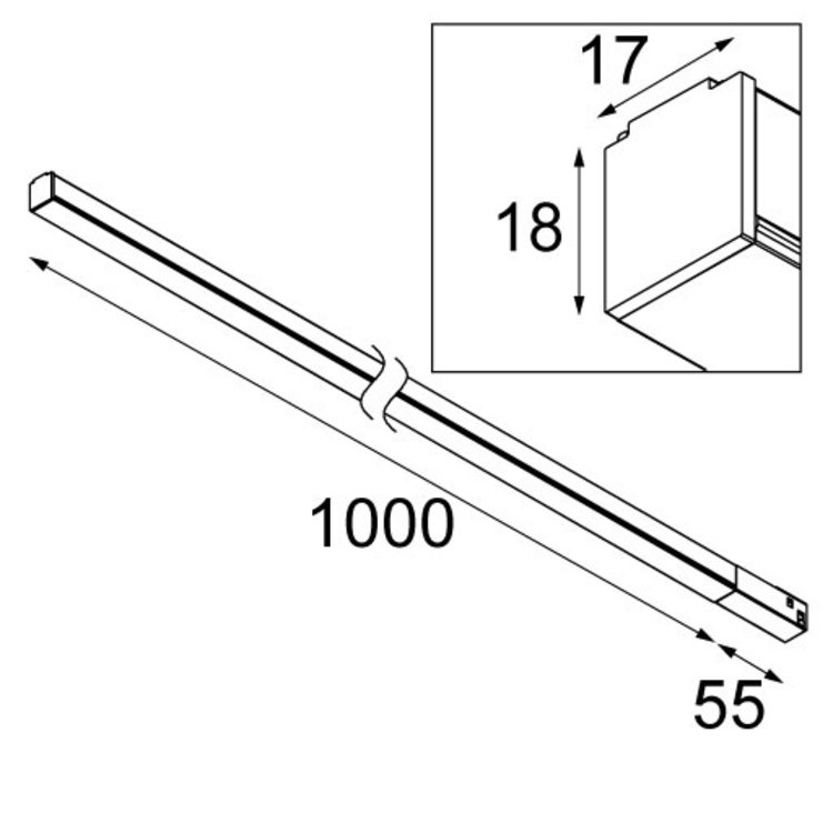 Modular Modular Linear 1000mm Pista Track