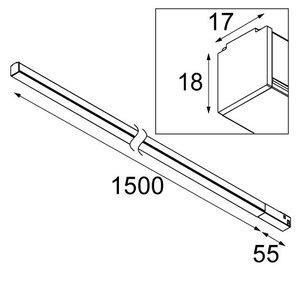 Modular Modular Linear 1500mm Pista Track
