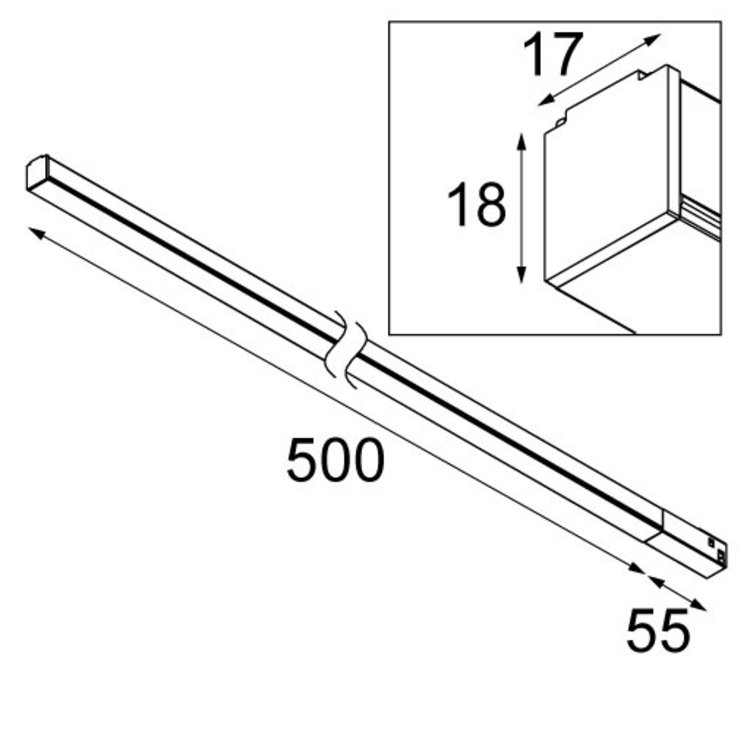 Modular Modular Pista night light 1000mm