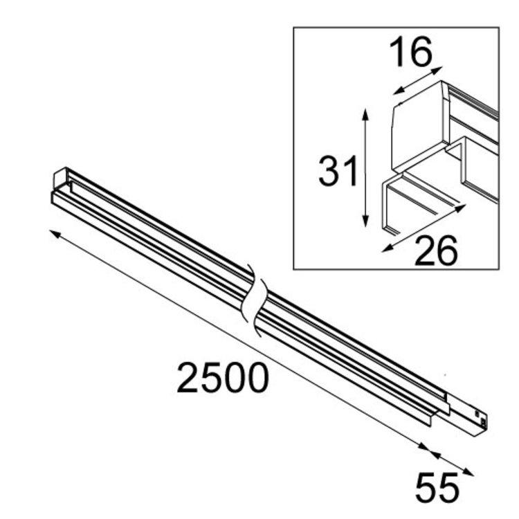 Modular Modular Linear Flaps GI 2500mm Pista Track