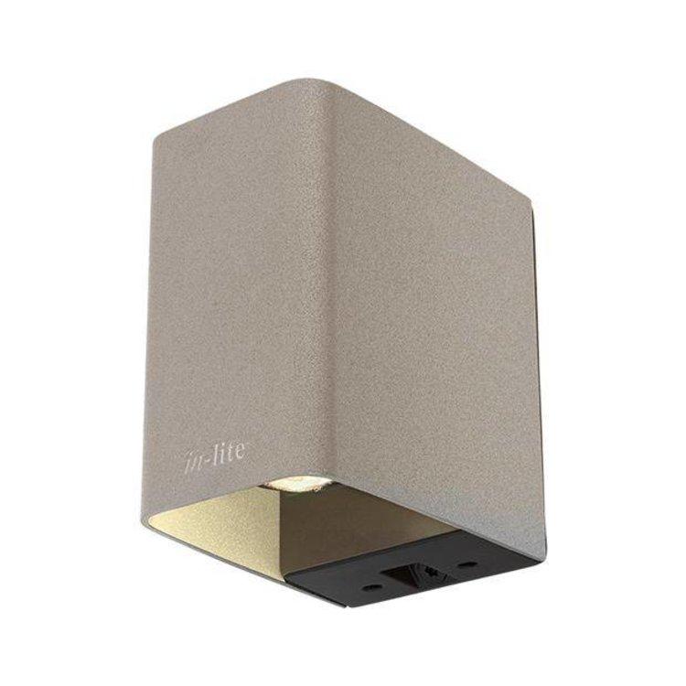 In-Lite buitenlampen en tuinverlichting 12 volt ACE DOWN flat grey