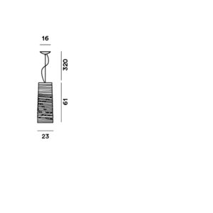 Foscarini Tress mini, piccola en media
