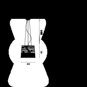 Foscarini Tress Grande sospension
