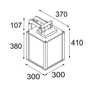 Modular Modular Kabaz wandlamp