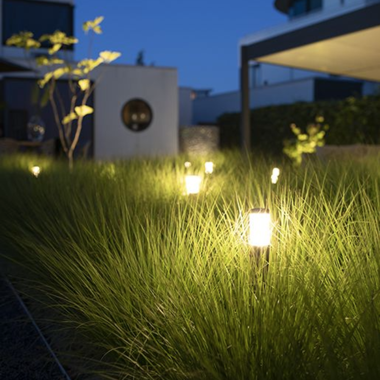 In-Lite buitenlampen en tuinverlichting 12 volt LIV ZILVER