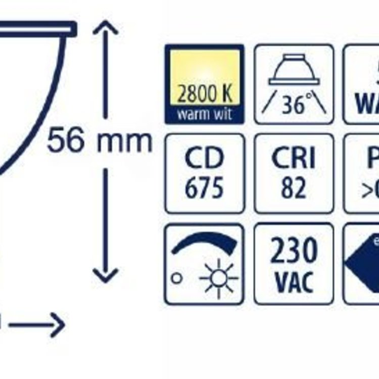 Lucente Camita Led lichtbron GU 10 5W wit dimbaar