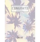 "Greeting card "" CONGRATS """