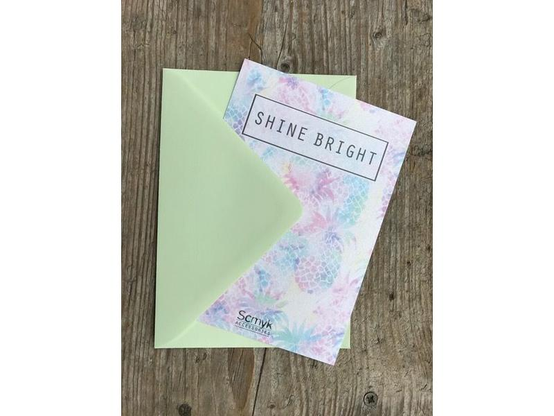 "Greeting card "" SHINE BRIGHT """