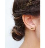 Earring gold Half Gravity