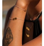 Bracelet Gold Bar - Moon