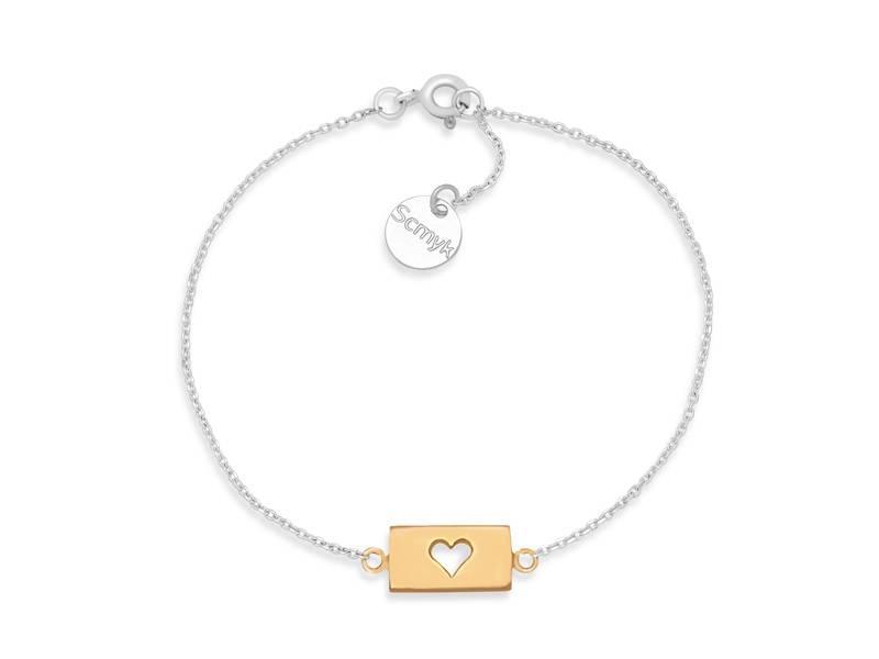 Bracelet Gold Bar - Heart
