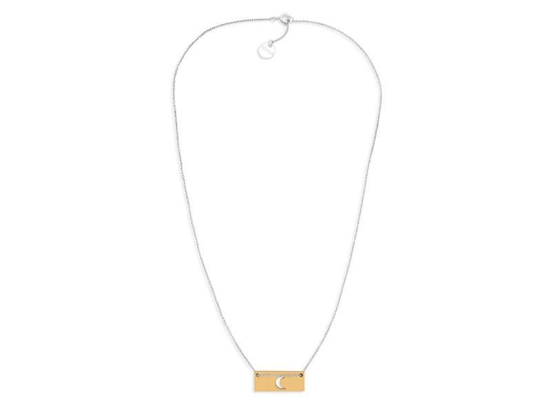 Necklace Gold Bar - Moon