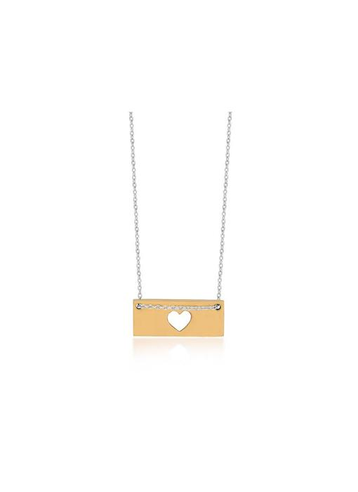Ketting Gold Bar - Heart