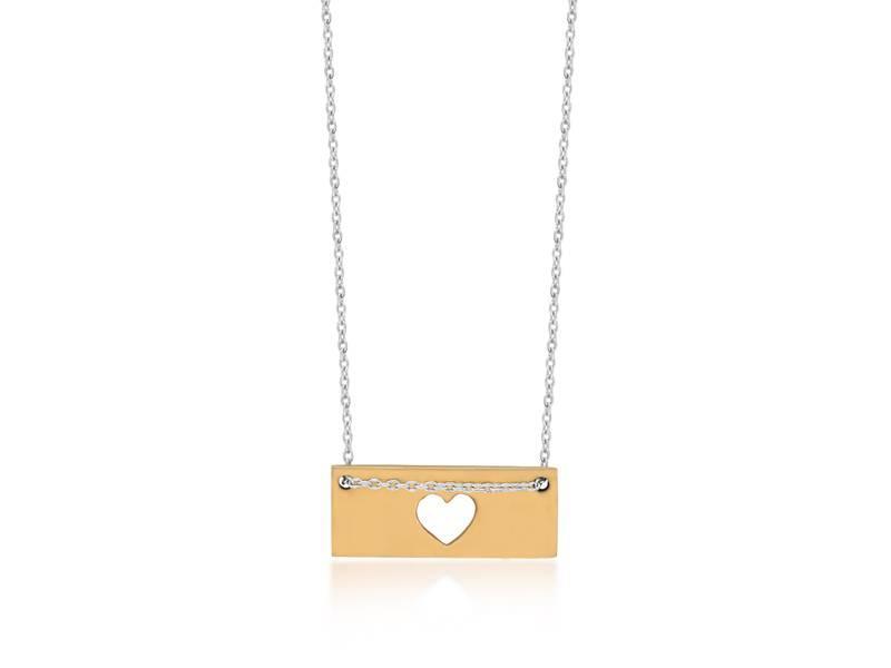 Halskette Gold Bar - Heart