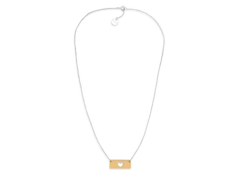 Necklace Gold Bar - Heart