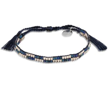 Armband Indigo Chrome