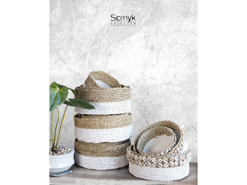 Pandan Basket with Shell Large