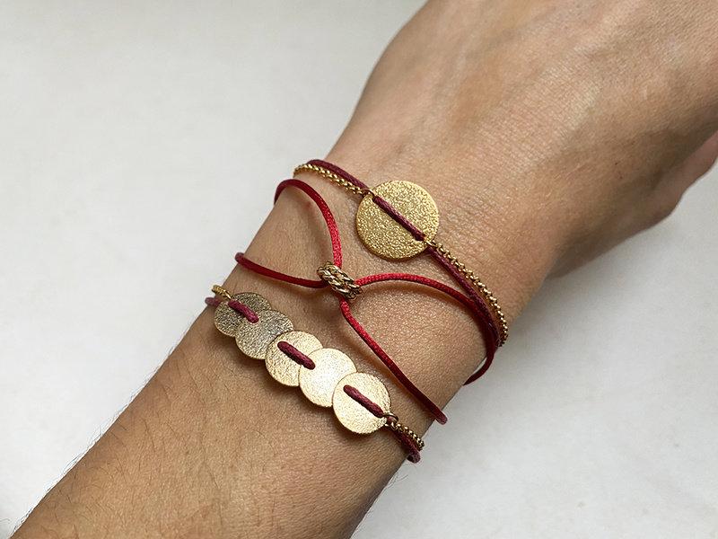 Armband Bogota Burgundy