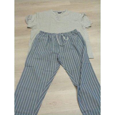 Duke/D555 Duke Pyjama lange Cathal / grau 5XL