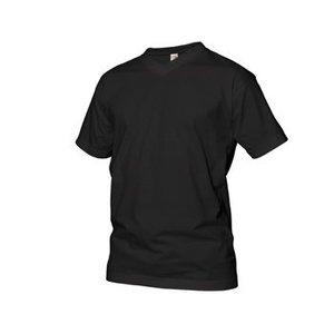 GCM sports T-Shirt mit V-Ausschnitt schwarz 6XL