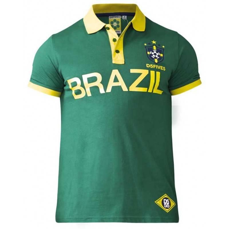 hot sale online 4b7c3 68fe2 Poloshirt Silva Brasilien grün 3XL