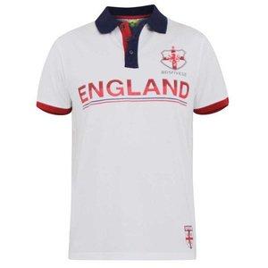 Polo shirt England weiß 3XL