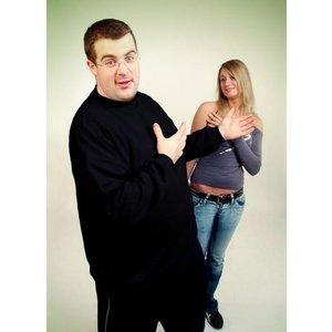 Honeymoon Sweatshirt 1000-99 schwarz 5XL