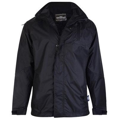 KAM Jeanswear Regenjacke KVS KV01 schwarz 7XL