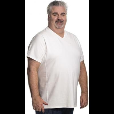 Alca T-shirt weißer V-Ausschnitt 6XL