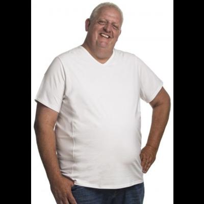 Alca T-shirt weißer V-Ausschnitt 8XL