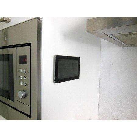 DynaLok Klittenband plakbaar, 10 mm. x 25 m. wit, binnengebruik