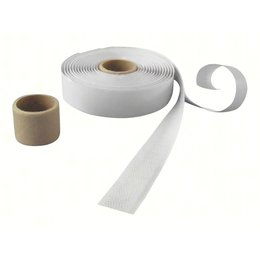 DynaLok Haakband plakbaar acr, 20 mm. breed, wit