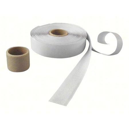 DynaLok Haakband (harde kant) met plakstrip, 20 mm. breed, wit, buitengebruik