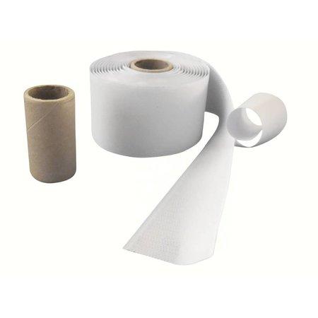 DynaLok Haakband (harde kant) met plakstrip, 50 mm. breed, wit, buitengebruik