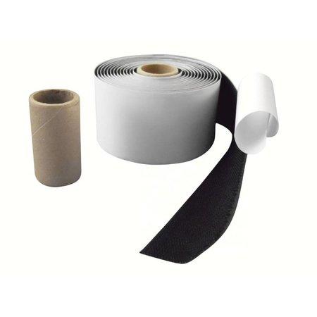 DynaLok Haakband (harde kant) met plakstrip, 50 mm. breed, zwart, buitengebruik