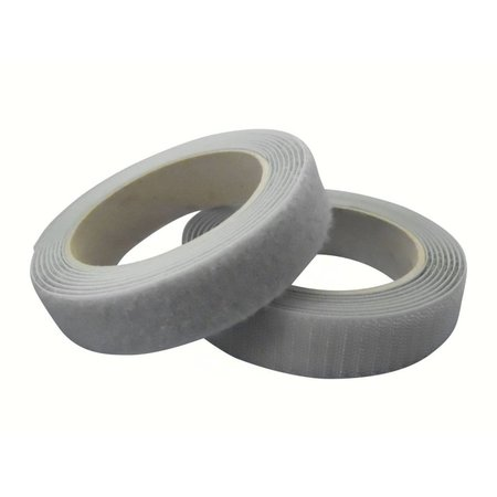 DynaLok Klittenband Naaibaar (harde + zachte kant), Zilvergrijs