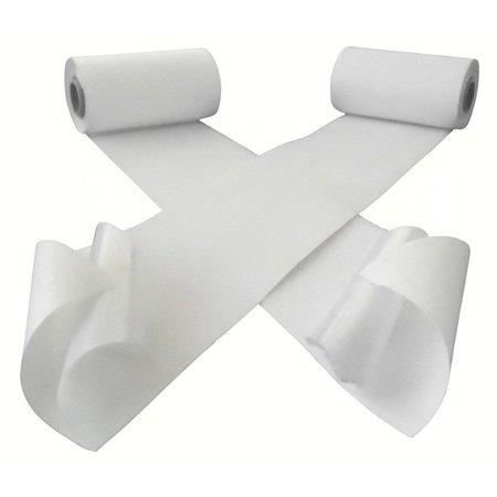 DynaLok Klittenband met plakstrip (harde + zachte kant), 100 mm. extra breed, wit, binnengebruik