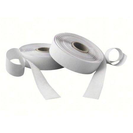 DynaLok Klittenband met plakstrip harde + zachte kant, 20 mm. breed, wit, binnengebruik