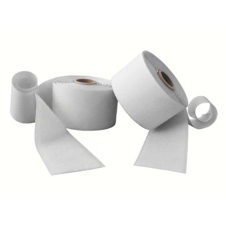 DynaLok Klittenband met plakstrip (harde + zachte kant), 50 mm. breed, wit, buitengebruik