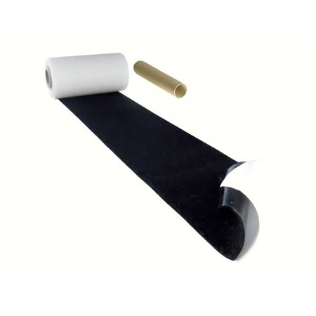 DynaLok Lusband (zachte kant) met plakstrip, 100 mm. extra breed, zwart, binnengebruik
