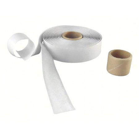 DynaLok Lusband (zachte kant) met plakstrip, 20 mm. breed, wit, buitengebruik