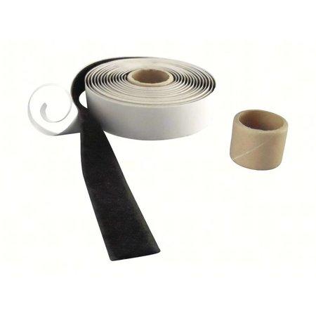 DynaLok Lusband (zachte kant) met plakstrip, 20 mm. breed, zwart, buitengebruik